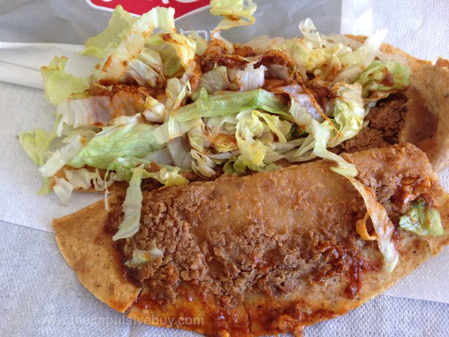 Jack in the Box Enchilada Monster Taco Innards