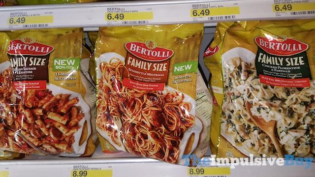 Bertolli Family Size (Italian Sausage & Rigatoni, Spaghetti & Meatballs, and Chicken Florentine & Farfalle)