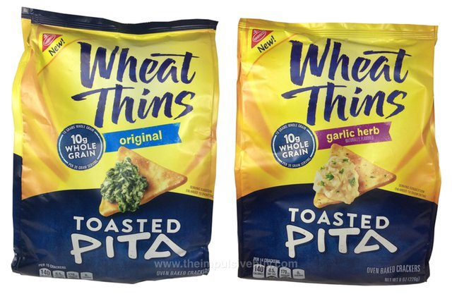 Wheat Thins Toasted Pita (Original and Garlic Herb)