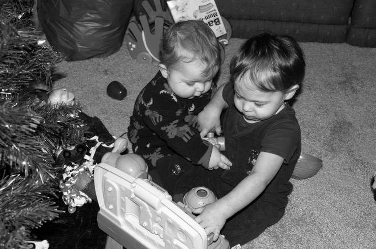 Ezra and Micah Playing