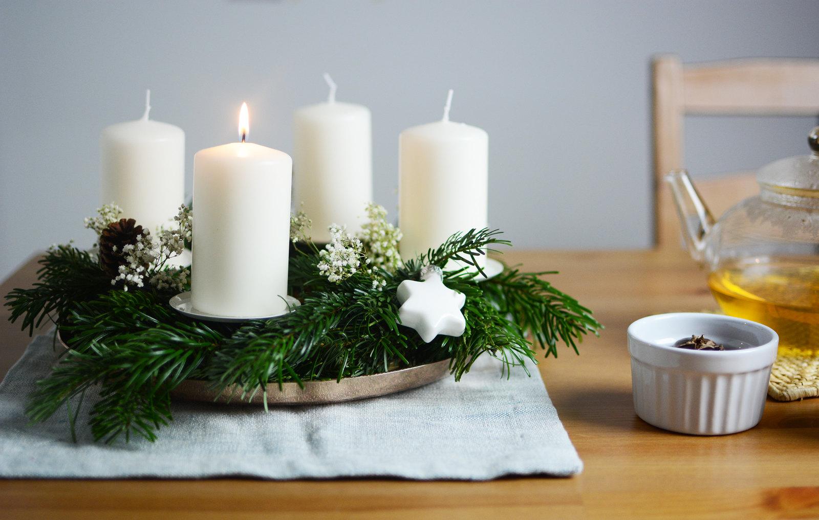 DIY: Skandinavischer Adventskranz - Pixi mit Milch