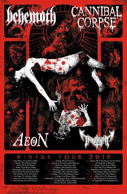 Behemoth and Cannibal Corpse at the Fillmore Silver Spring