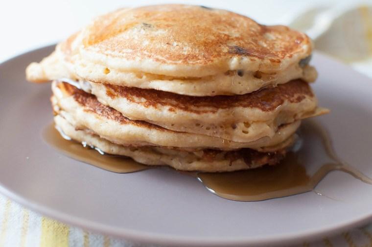 Corny Banana Blueberry Pancakes 4