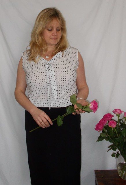 Polka dot sleeveless Jasmine blouse