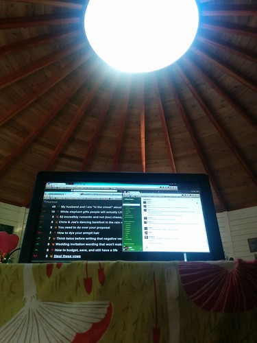 Working from yurt