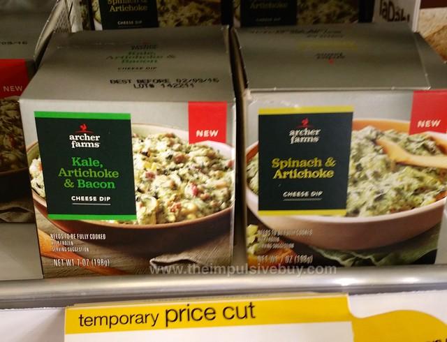 Archer Farms Kale, Artichoke & Bacon and Spinach & Artichoke Cheese Dips
