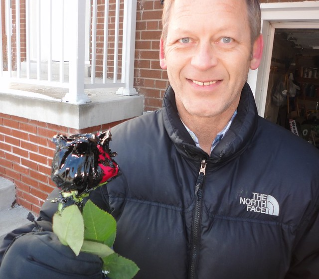 Bill Korenowsky with Waterproof Rose