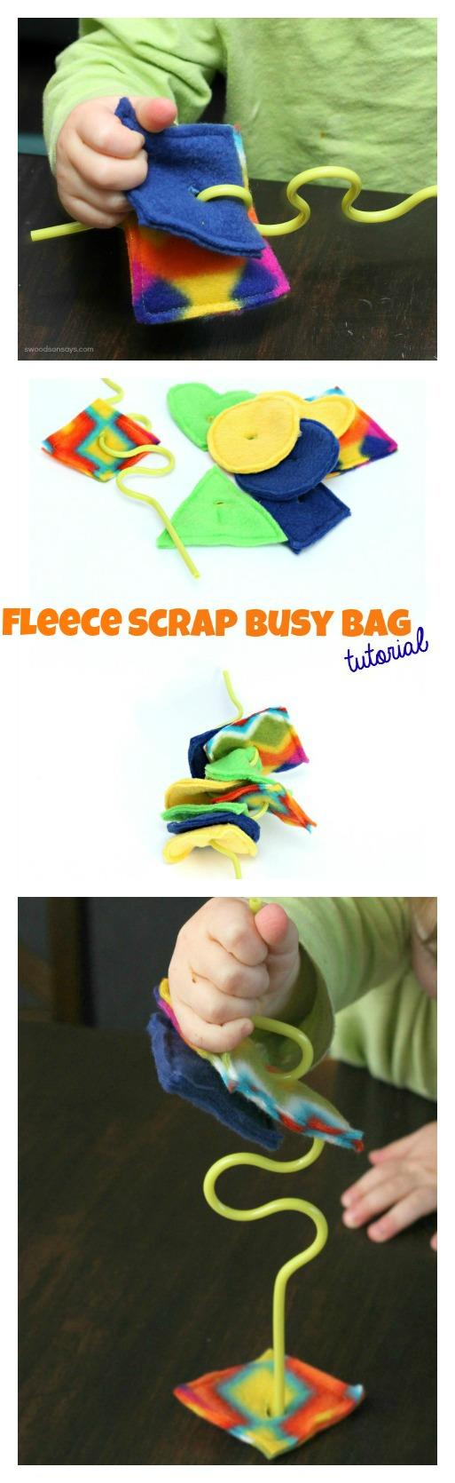 Fleece Scrap Busy Bag DIY