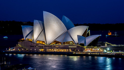 Sydney Opera House at night Australia  4K Wallpaper / Desktop Background