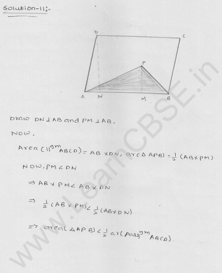 RD Sharma Class 9 solutions Chapter 15 Areas of parrallelograms and Triangles Ex 15.3 7