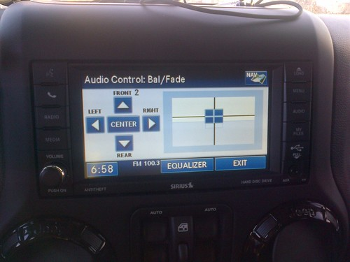jeep fader settings