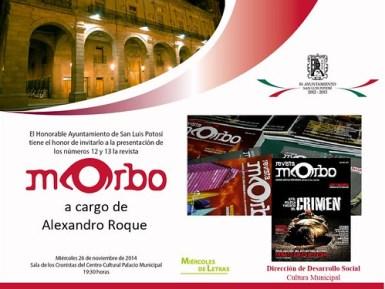 Miércoles de letras presento Morbo, revista de vanguardia