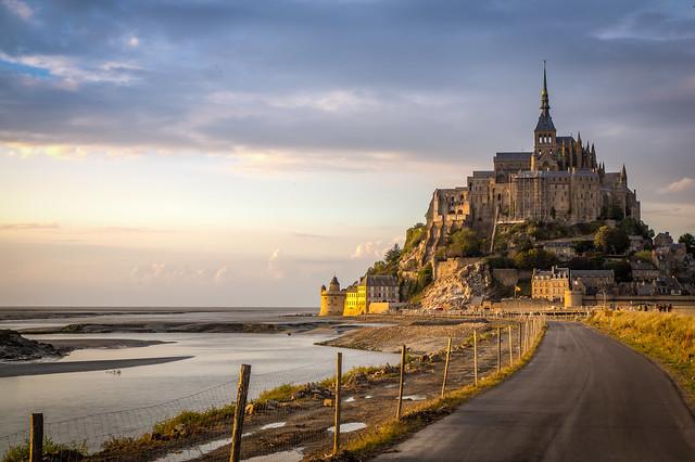 The road to Mont Saint Michel