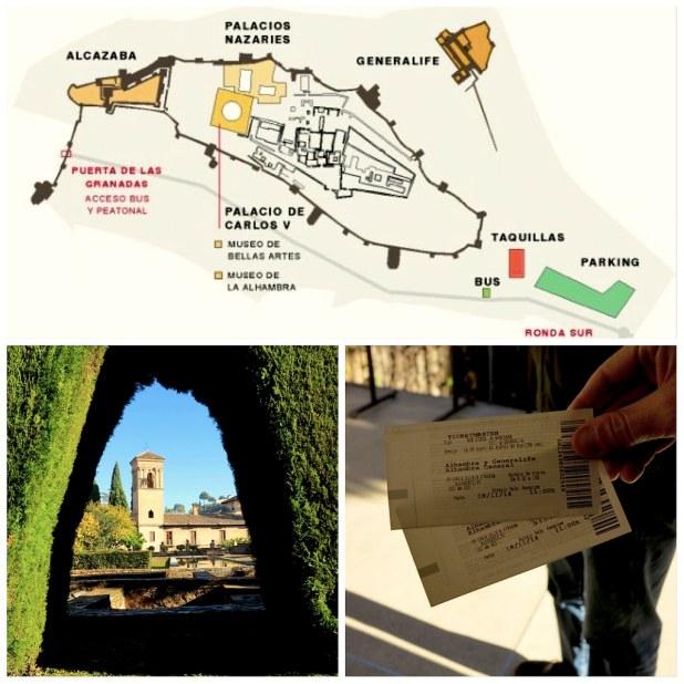 Mapa Alhambra Granada
