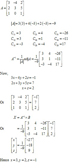 RD Sharma Class 12 Solutions Chapter 8 Solution of Simultaneous Linear Equations Ex 8.1 Q8-ii