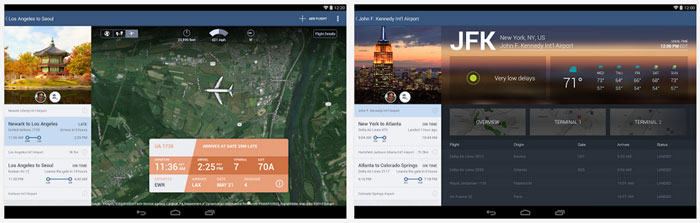 Flight Track: Customize Android Home Screen