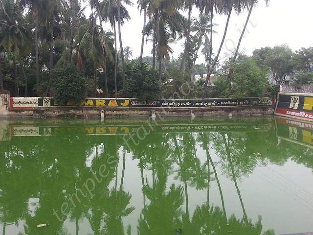 Temple tank. Prananatheswarar temple, Thirumangalakudi.