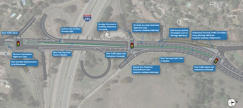 Page Mill Expressway design concepts at I-280