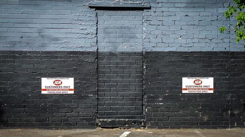 Black and Blue Doorway