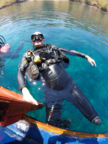 Paul after the last dive. Komodo