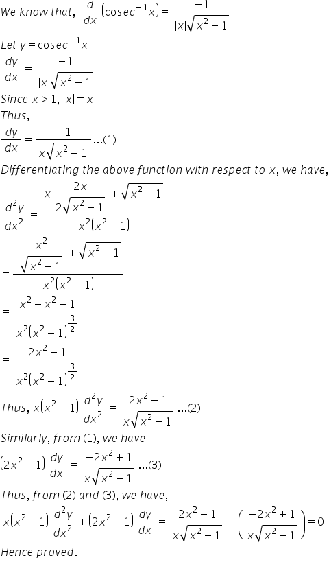 RD Sharma Class 12 Solutions Chapter 12 Higher Order Derivatives Ex 12.1 Q45