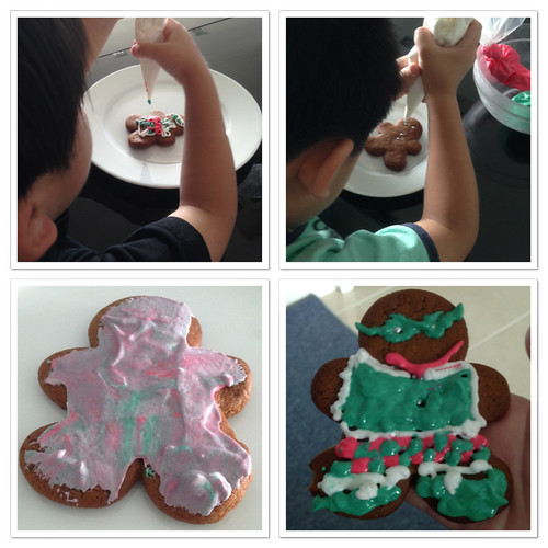 Gingerbread men decorating