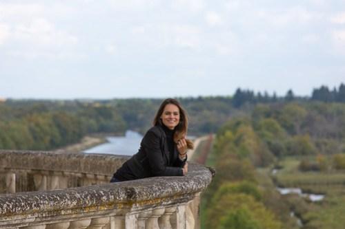 Adriana at Chateau de Chambord