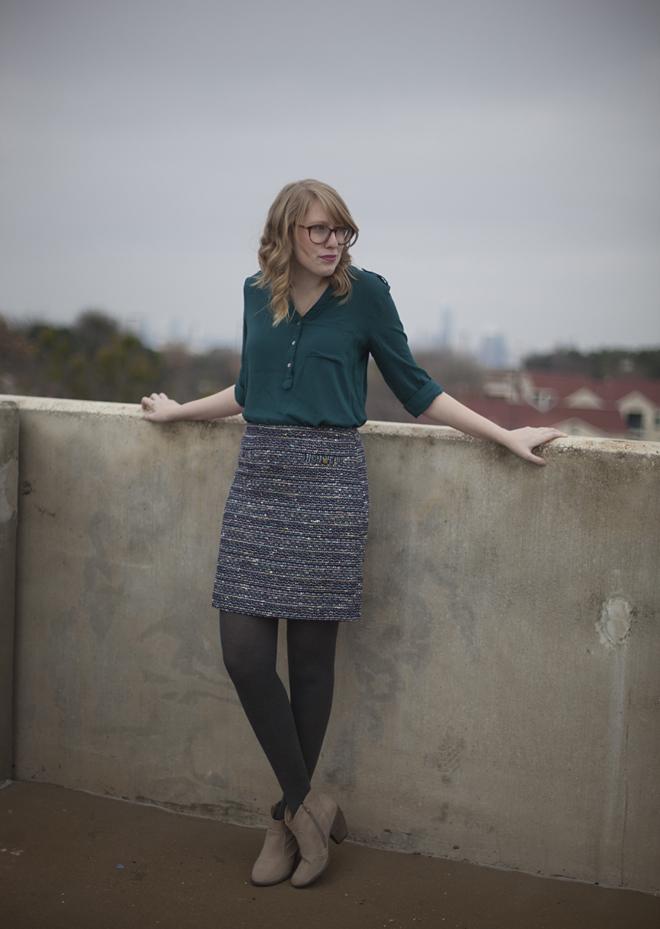 LOFT Outlet tweed skirt