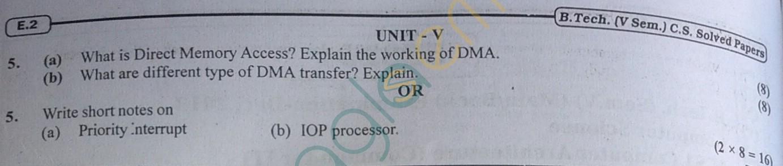 RTU: Question Papers 2013 - 5 Semester - CS - 5E3251