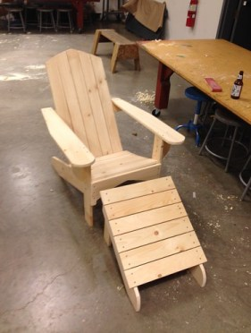 Projects: Adirondack chair