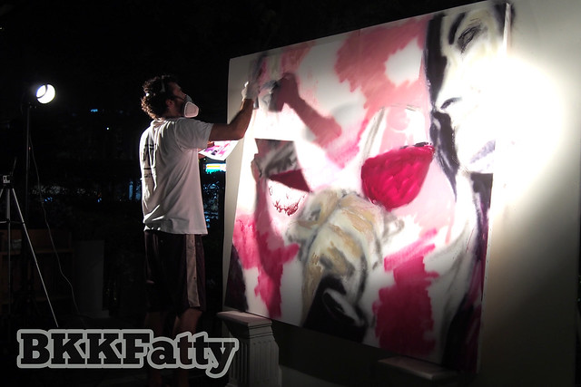 live painting by Sath at hansar