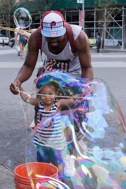 Father/Daughter at Union Square New York