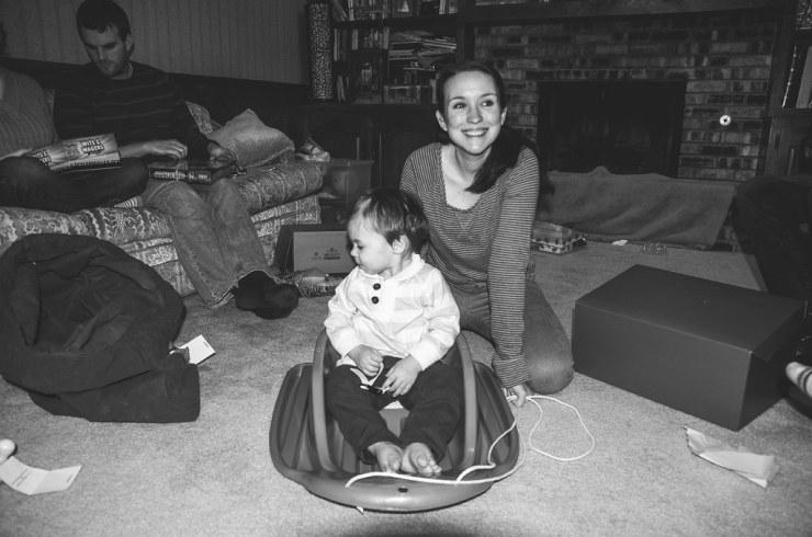 Sarah and Micah's new sled