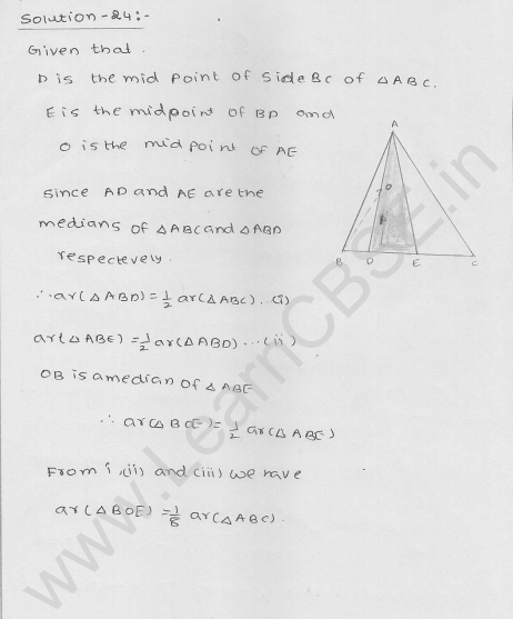 RD Sharma Class 9 solutions Chapter 15 Areas of parrallelograms and Triangles Ex 15.3 29