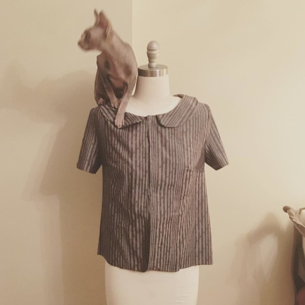 it only took a few months but now there are two sleeves. #sewing #coletteviolet #blouse