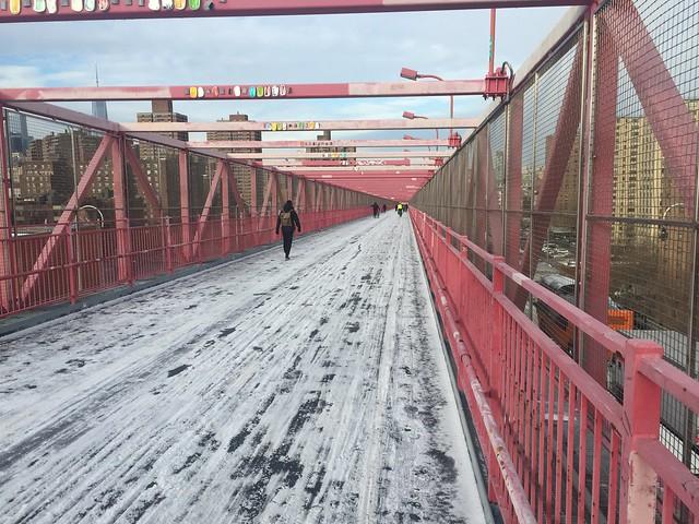 Slush on the Williamsburg Bridge