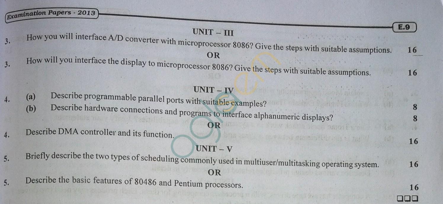 RTU: Question Papers 2013 - 7 Semester - EC - 7E4049