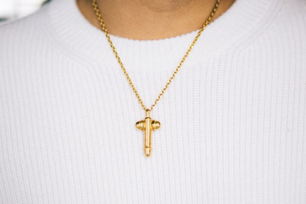 Large Tom Ford Penis Necklace worn by fashion blogger Bryanboy