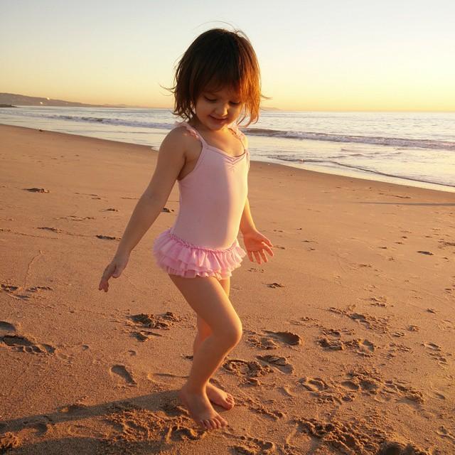 My beach dancer... #sunset #nofilter #twoyearsold