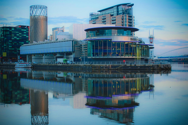 A View of the Lowry Theatre, Part of the Lowry Centre at Salford Quays