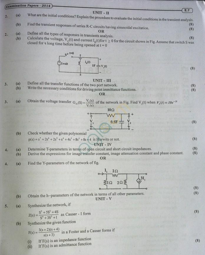 RTU: Question Papers 2014 - 3 Semester - EC - 3E1614