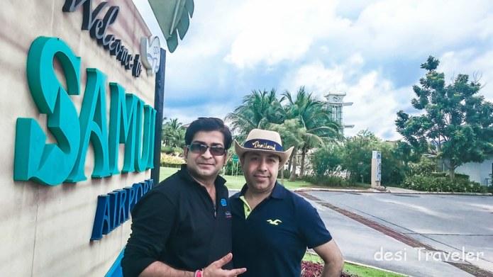Deepak Arora and Sanjay Pahwa at Koh Samui Airport