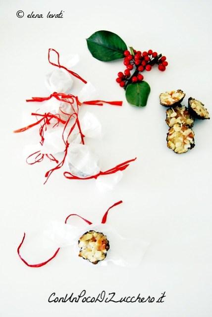 Dolcetti alle mandorle e frutta candita