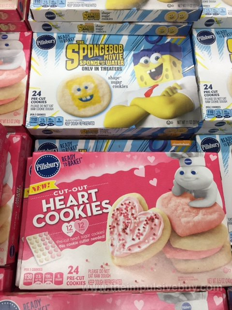 Pillsbury Ready to Bake The Spongebob Movie Sponge our of Water Shape Sugar Cookies and Cut-Out Heart Cookies