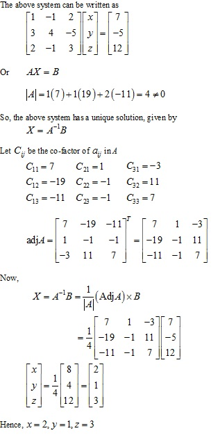 RD Sharma Class 12 Solutions Chapter 8 Solution of Simultaneous Linear Equations Ex 8.1 Q2-xiv