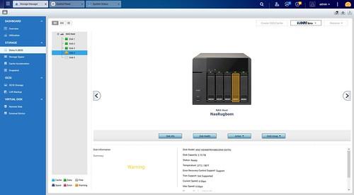 ใน Storage Manager ก็ชี้ให้เห็นว่าฮาร์ดดิกส์ลูกไหนมีปัญหา