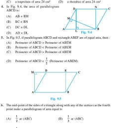 Class 9 Important Questions for Maths - Areas of Parallelograms and  Triangles   AglaSem Schools [ 1595 x 568 Pixel ]