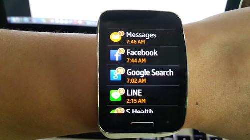Notifications ของ Galaxy Gear S