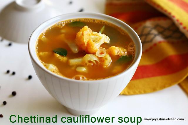 Chettinad -cauliflower soup