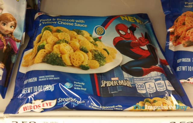 Birds Eye Marvel Spider-Man Pasta & Broccoli with a Yellow Cheese Sauce
